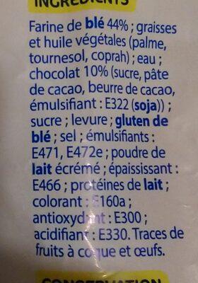 Pains au chocolat x10 - Ingrédients - fr