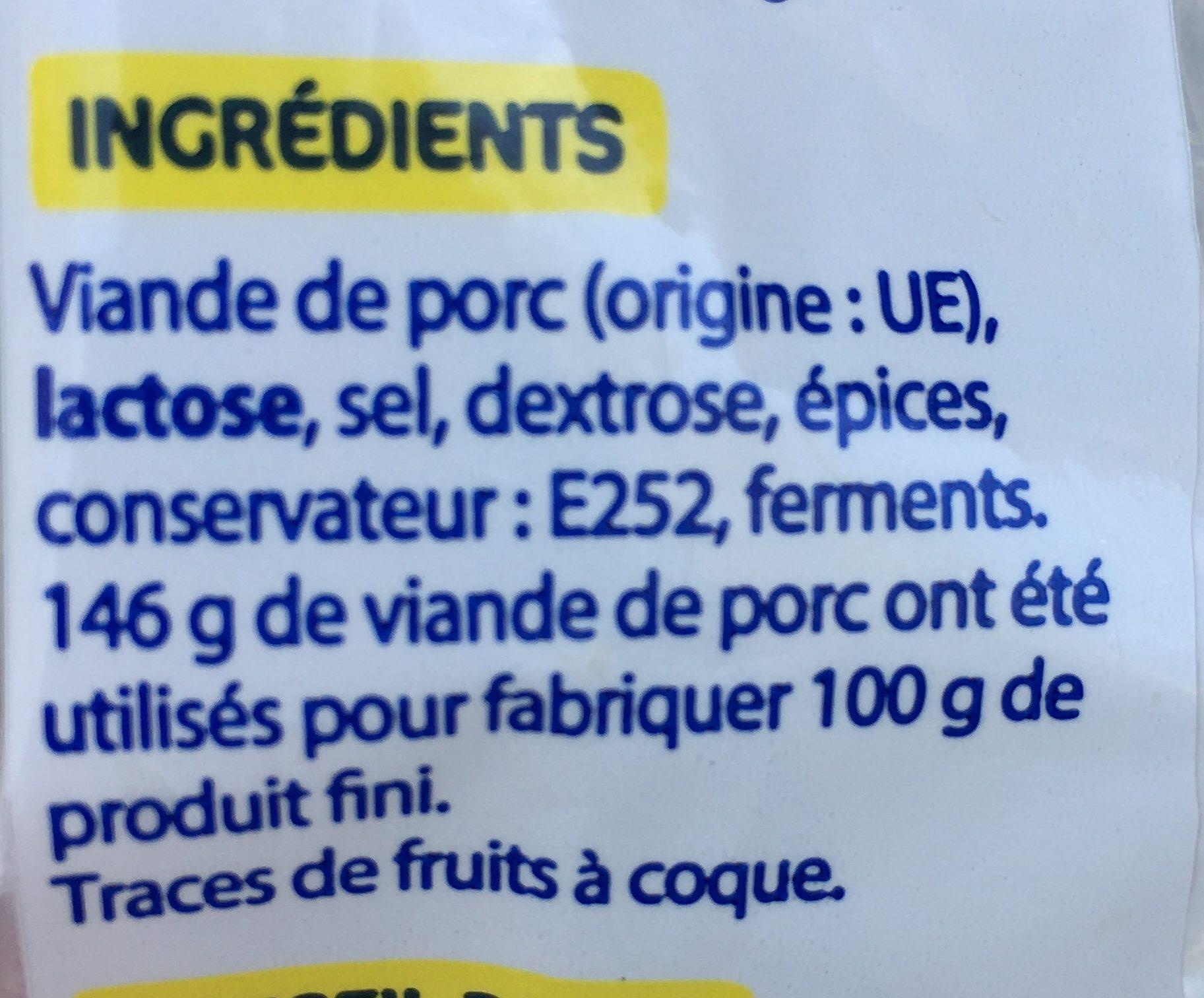 Saucisson Sec - Ingrediënten - fr