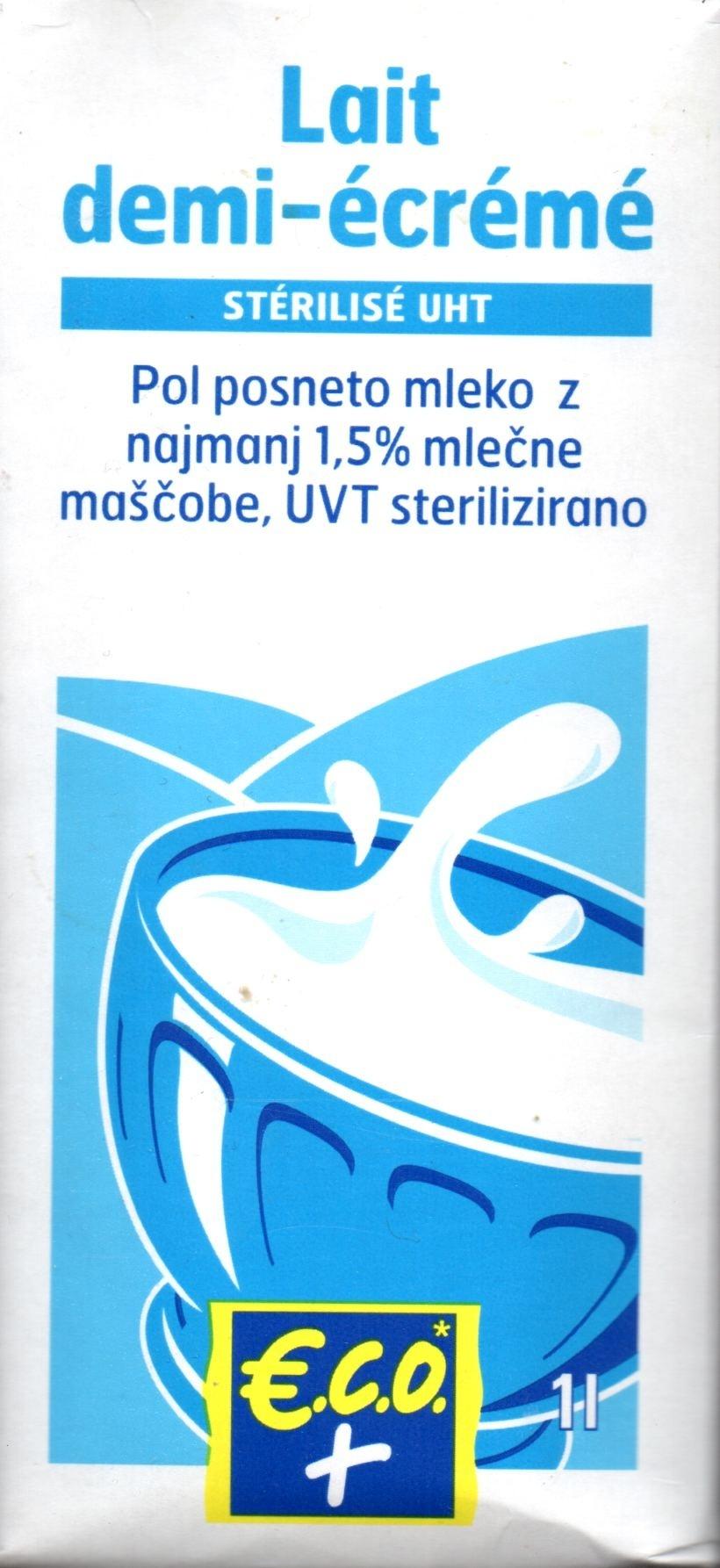 Lait demi-écrémé stérilisé UHT (1,5 % MG) - Product