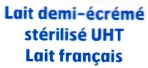 Lait demi-écrémé stérilisé UHT (1,5 % MG) - Ingrediënten - fr