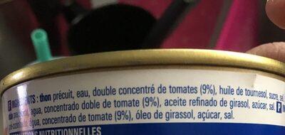 Miettes de thon à la tomate - Ingrédients