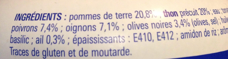 Salade Thon Niçoise - Ingrédients
