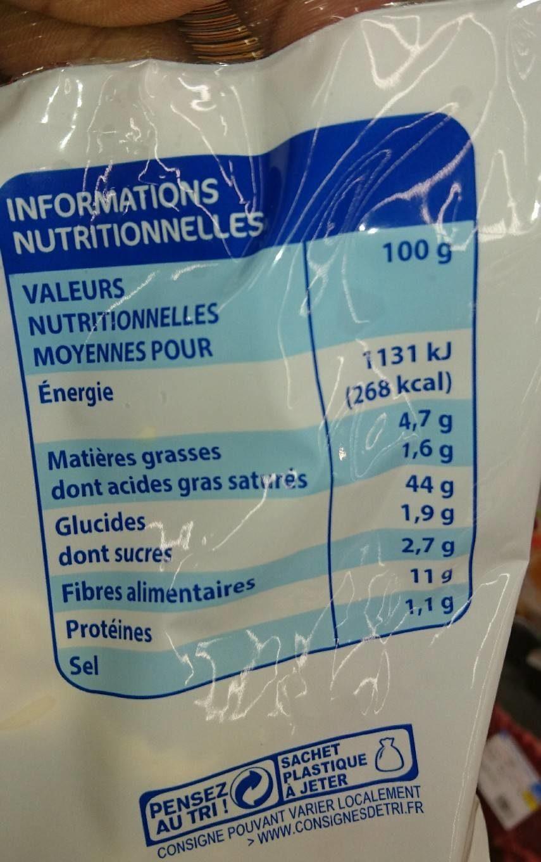 Tortellini à la Viande - Informations nutritionnelles