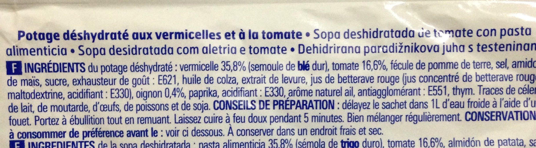 Potage tomate aux vermicelles - Ingredients - fr