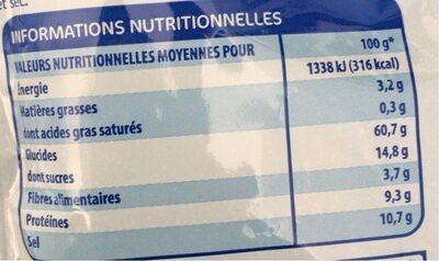 Potage tomate aux vermicelles - Nutrition facts - fr
