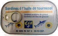 Sardine à L'huile De Tournesol 3x125g - Produit
