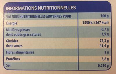 24 génoises fourrées goût framboise - Nutrition facts - fr