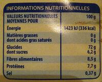 Chicorée Café Soluble - Informations nutritionnelles - fr