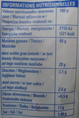 Chorizo (Fort) - Nutrition facts