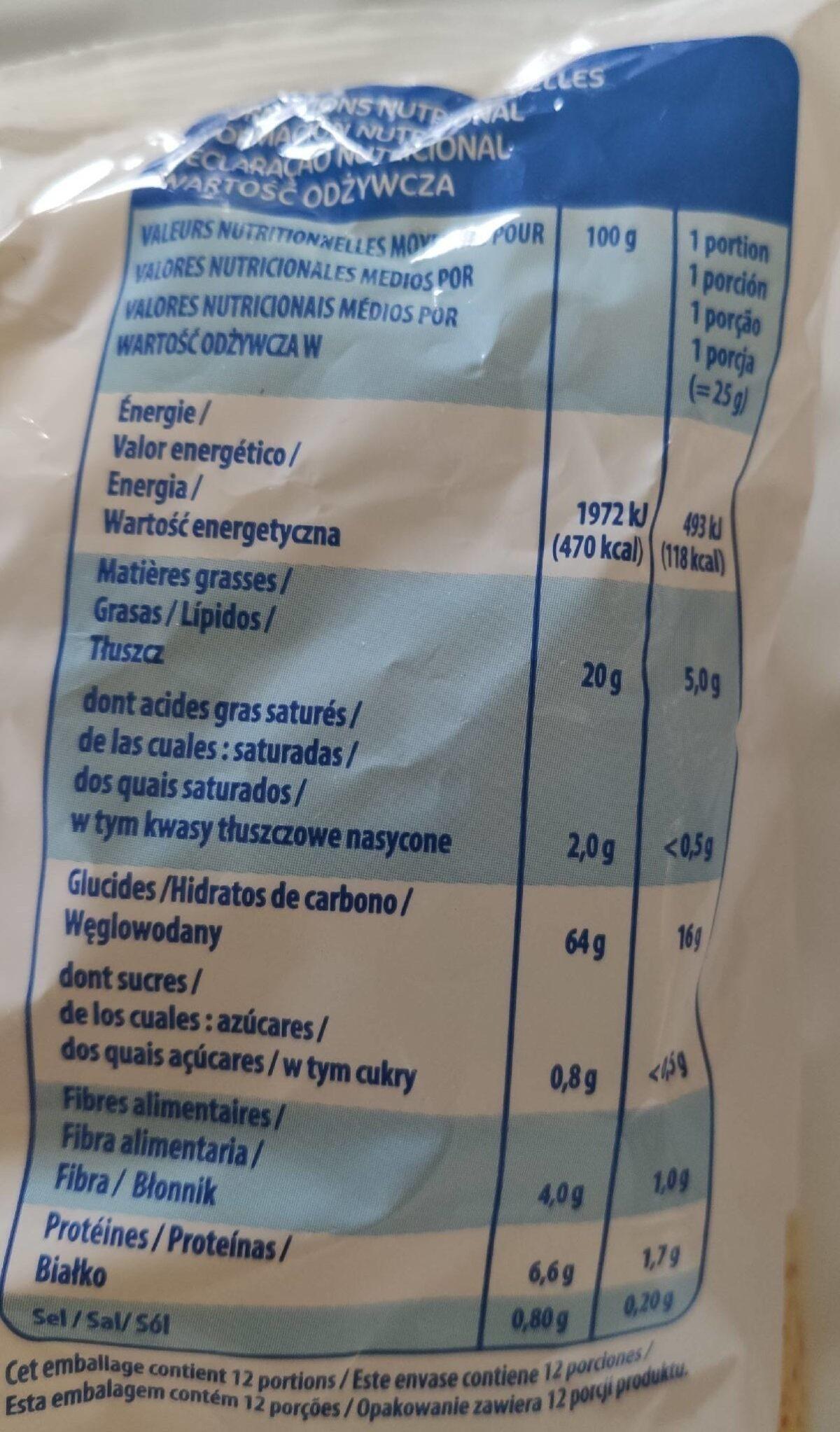 Tortilla Chips - Informação nutricional - fr