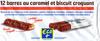 12 barres au caramel et biscuit croquant - Product
