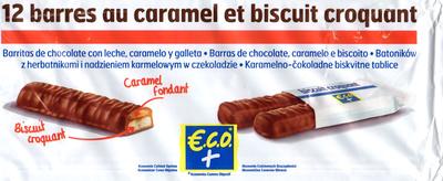 12 barres au caramel et biscuit croquant - Product - fr
