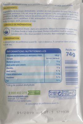 Potage Poireaux Pommes de Terre - Ingredients - fr
