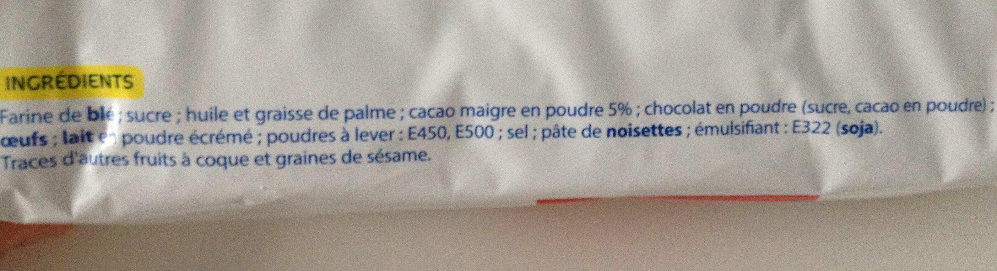 Biscuits Fourrés Cacao - المكونات - fr