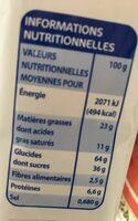 Biscuits Fourrés Cacao - حقائق غذائية - fr