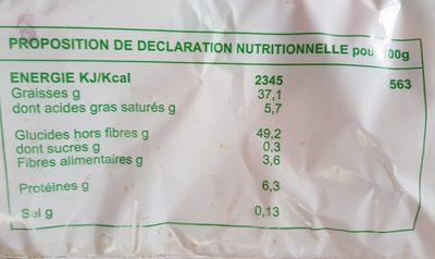 Les Bonnes Chips - Nutrition facts - fr