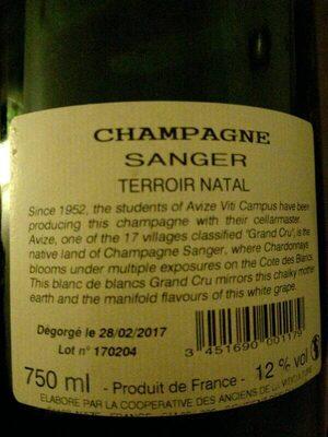 Champagne - Ingredients - es