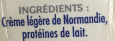 La Crème legère fluide en brique de Condé-sur-Vire - Ingrédients - fr