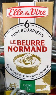 Les minis beurriers le Beurre Normand demi-sel - Produit - fr