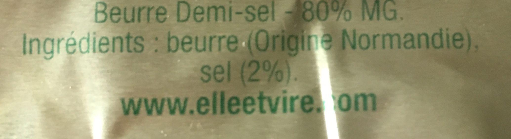 le Beurre normand demi sel - Ingrédients - fr