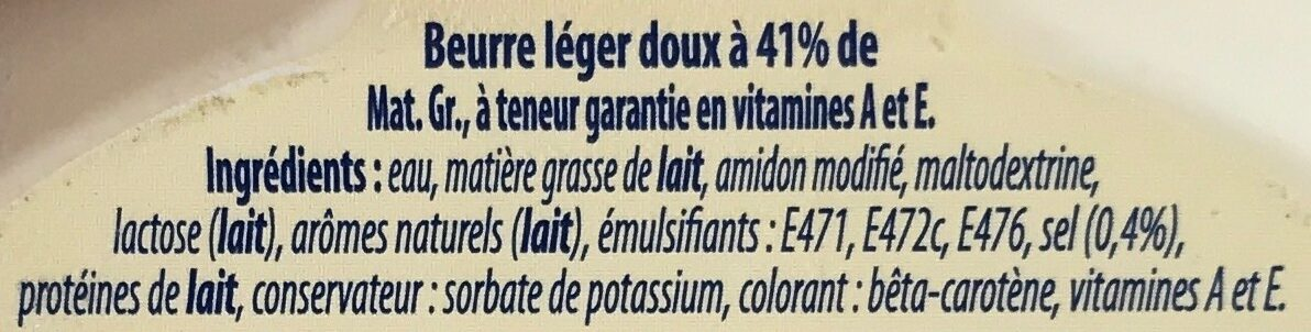 Beurre léger 41% - Ingredients - fr