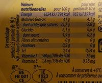 Beurre léger 41% - Informations nutritionnelles - fr