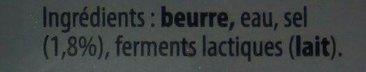 La plaquette 60% demi-sel - Ingrediënten - fr