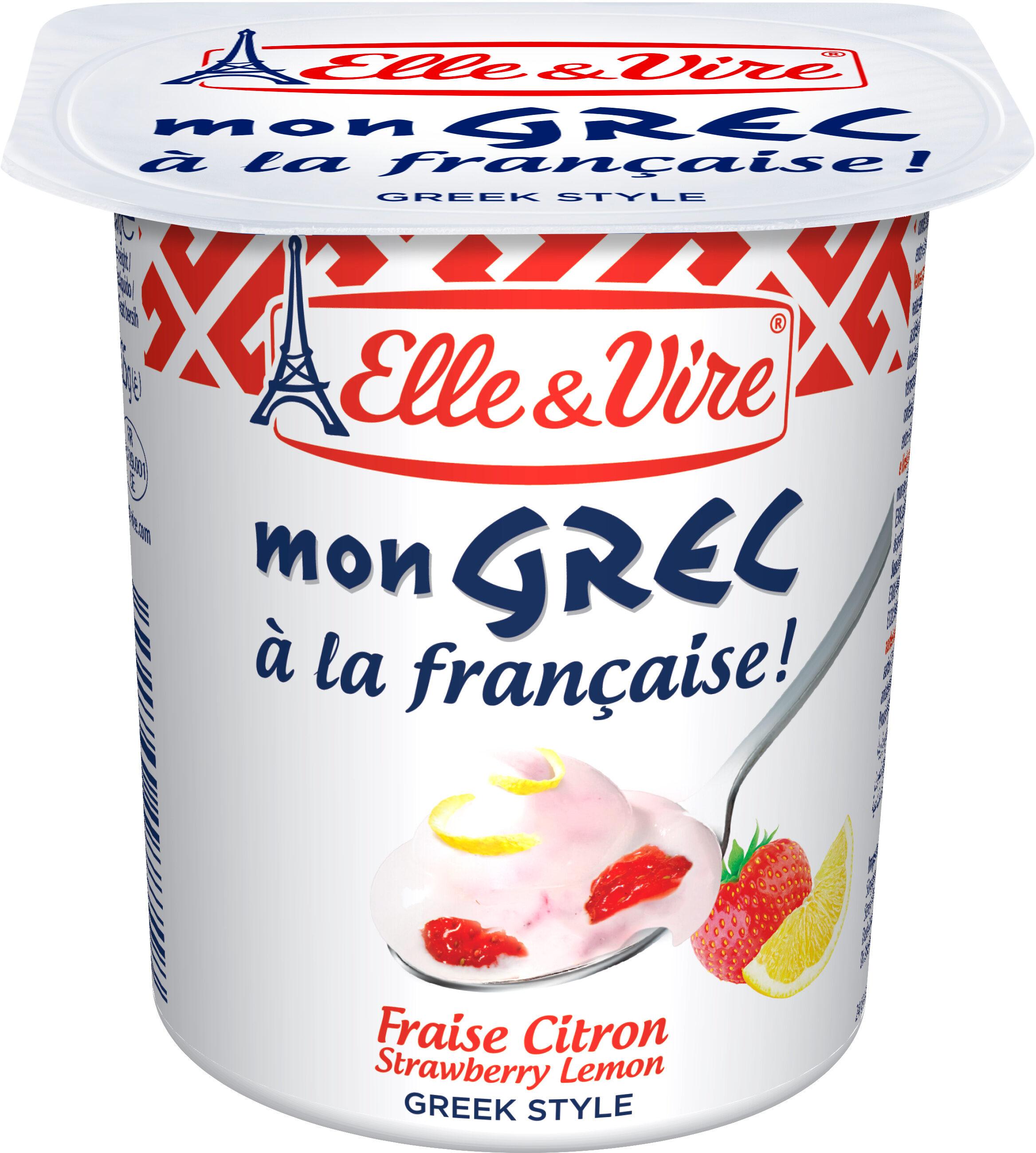 Dessert lacté Mon Grec - Fraise citron - Product - fr