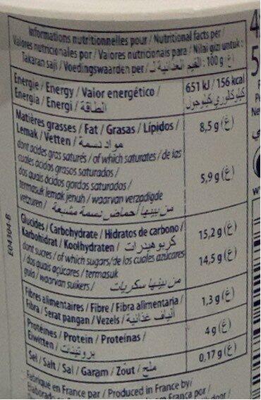 Dessert lacté Mon Grec - Fraise citron - Voedingswaarden - fr