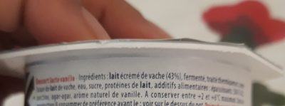 Dessert lacté Mon Grec vanille - Ingrédients - fr