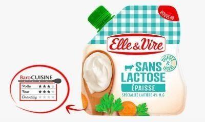 Spécialité Laitière épaisse sans lactose en poche - Produit - fr