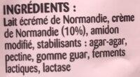 Spécialité Laitière épaisse sans lactose en poche - Ingrédients - fr
