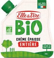 La Crème entière épaisse biologique en poche - Product - fr