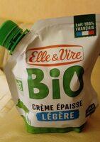 La Crème légère épaisse biologique en poche - Product - fr