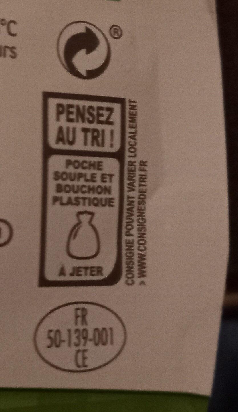 La Crème légère épaisse biologique en poche - Recyclinginstructies en / of verpakkingsinformatie - fr