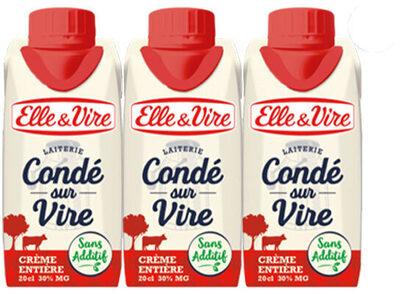 La Crème entière fluide en brique de Condé-sur-Vire - Product - fr
