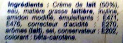 Beurre léger 41% MG Crémeux Le Demi-Ecrémé Doux - Ingredients - en