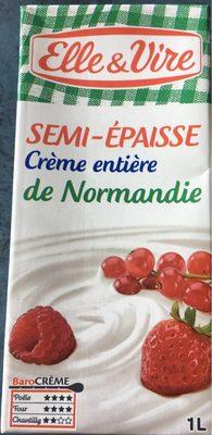 La Crème entière semi-épaisse UHT en brique de Normandie - Product - fr