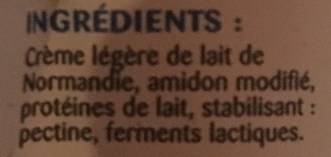 Crème de Normandie Épaisse Légère - Inhaltsstoffe