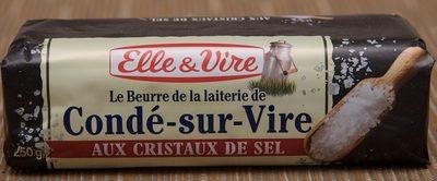 Le Beurre de la laiterie de Condé-sur-Vire aux cristaux de sel - Product - fr