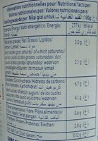 Dessert lacté Nature - Non sucré - Informations nutritionnelles - fr