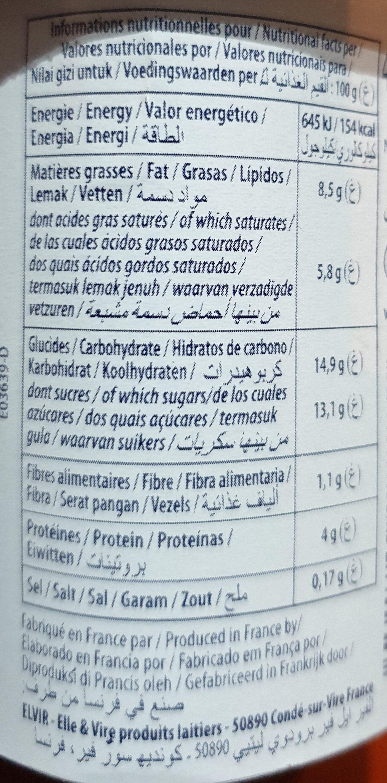 Dessert lacté Mon Grec - Miel - Informations nutritionnelles - fr
