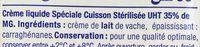 Crème Cuisson - Ingrédients - fr