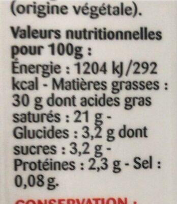 La Crème entière fluide UHT en brique de Normandie - Informations nutritionnelles - fr