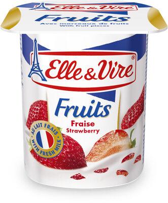 Dessert lacté aux fruits stérilisé UHT- Fraises - Product - fr
