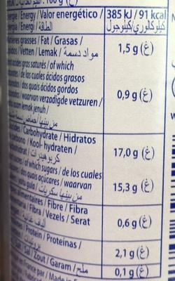 Dessert lacté aux fruits stérilisé UHT- Fraises - Voedingswaarden - fr