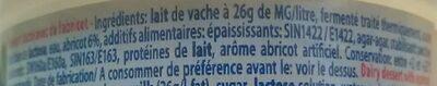 Yaourts Elle&Vire aux fruits - Ingredients - fr