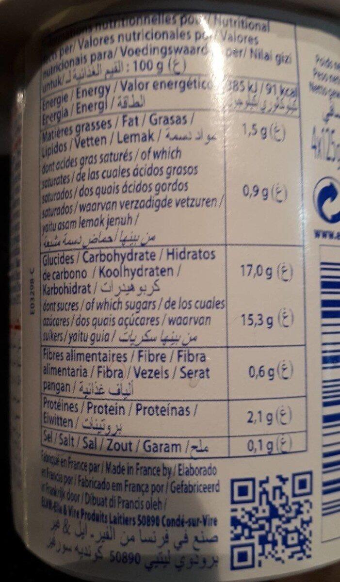 Yaourts Elle&Vire aux fruits - Nutrition facts - fr