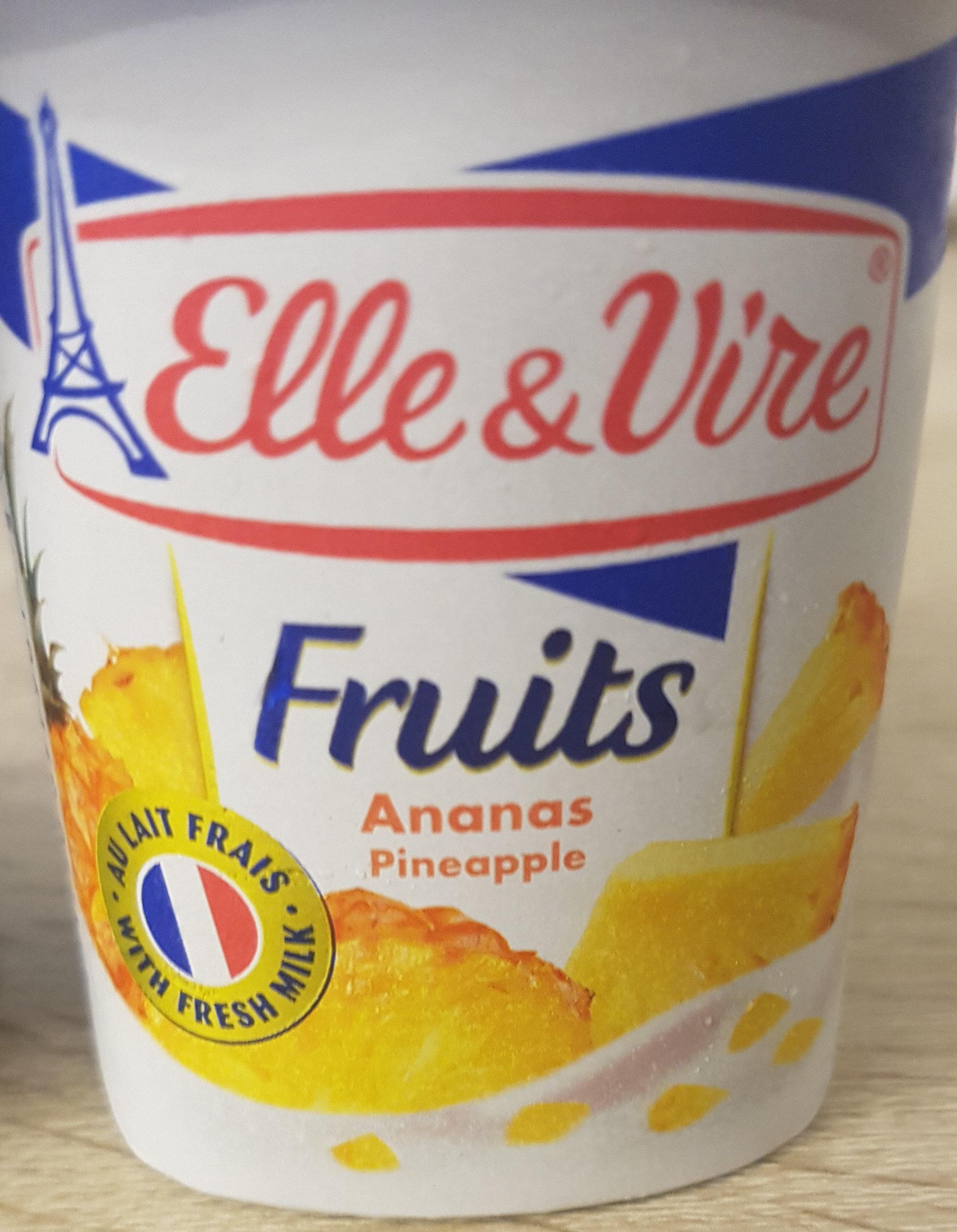 Dessert lacté aux fruits stérilisé UHT - Ananas - Product - en