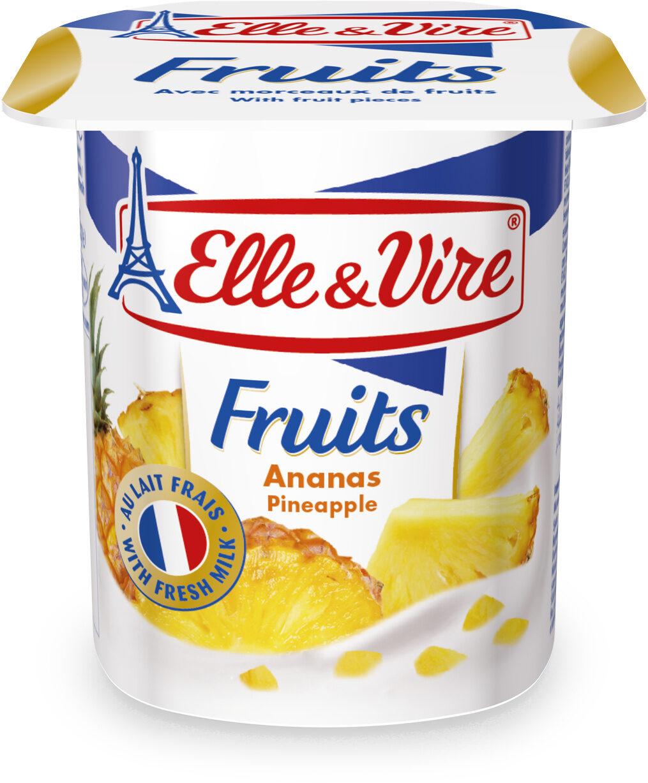 Dessert lacté aux fruits stérilisé UHT - Ananas - Product - fr